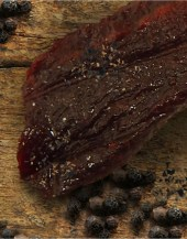 Black Pepper Beef Jerky Peppery and oh so good. This is a great choice on beef, having a medium level of peppery spice.