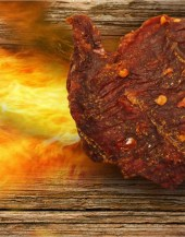Flame Thrower Beef Jerky If you like hot then this is the jerky for you. This is our spiciest beef jerky. A perfect complement to our premium jerky.