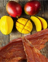 Beef Jerky Unlimited Jerky - Mango Chicken Jerky - Our mango marinade is a delicious cross of sweet & savory. It pairs perfectly with our premium chicken jerky.