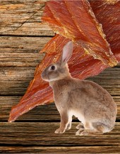 Beef Jerky Unlimited - Rabbit Jerky - Original - Rabbit is a delicious white meat. Its flavor is similar to chicken. Like chicken, rabbit meat tends to absorb the flavors of the marinades very well.