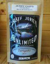 Beef Jerky Unlimited - Thin and Crispy - Teriyaki Beef Jerky Chips